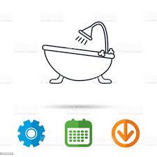 badezimmersymbol badezimmer mit dusche zur verfügung stock vektor und mehr bilder abzeichen