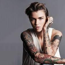 Ruby Rose Sleeve Tattoo Design