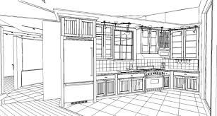 Coloring Page Kitchen Room Buildings And Architecture 15