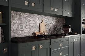 cuisine carreaux a tile backsplash of patchwork pattern brings an unmatched vintage