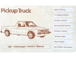 1981 VW Rabbit Pickup Owners Manual Added | Chris.chemidl.in
