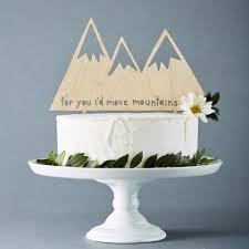 Mountains Lasercut Wedding Cake Topper Rustic