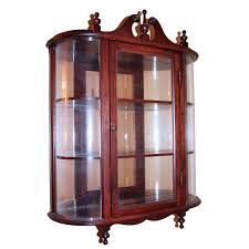 Curved Glass Curio Cabinet Antique by Wall Curio Cabinet Amazing French Armoire Display Case Want This
