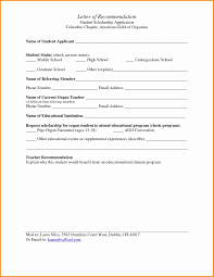 Template Template Of Letter Recommendation Writing A For Student