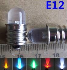 shop 5pc blue led 24v e12 12v e12 led green 24v