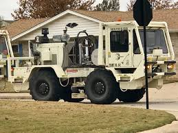 These Vibroseis Trucks (seismic Shakers) Came Down My Street Today ...