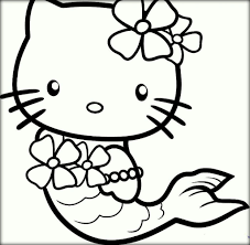 Hello Kitty Drawing Coloring Sheets Cute Pictures To Color
