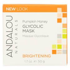 Andalou Naturals Glycolic Mask Pumpkin Honey by 1stopshoporganics Com Beauty Without Cruelty Moisture Plus
