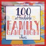 100 Ideas For Family Game Night
