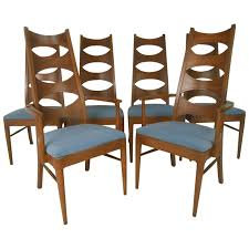Love These Chairs Ms Set Of Mid Century Modern Cat Eye Dining By Kent Coffey