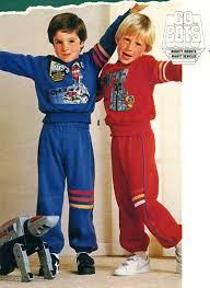 Boys Go Bots Sweatsuits 1985