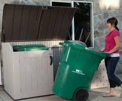 Rubbermaid Horizontal Storage Shed 32 Cu Ft by Lifetime U0027s Mini Shed Storing Large Wheelie Trash Bins Lifetime U0027s
