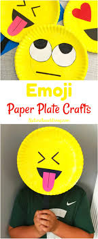 Super Cute Emoji Paper Plate Craft Emotions Theme Party Props Ideas
