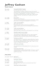 Sample Janitorial Resume Custodian Examples For