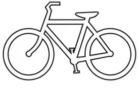 Bicycle Clipart Black And White 2