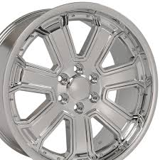 22x9.5 Chrome Silverado Style Deep Dish Wheel 22
