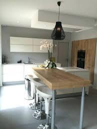 cuisine blanche et cuisine blanc et bois ikea impressionnant modele cuisine blanc