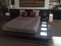 impera modern contemporary lacquer platform bed with interalle com