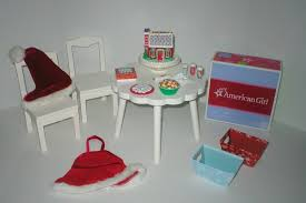 American Girl Holiday SUGAR & SPICE BAKING SET PBK TABLE & CHAIRS For 18