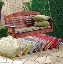 Porch Swing Cushions With Back Cushion Replacement Cheap Patio