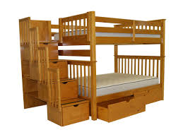 Pet Stairs For Tall Beds by Bedz King Stairway Full Over Full Bunk Bed With Storage U0026 Reviews