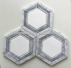 6 inch carrara hexagon mosaic backsplash floor tiles buy