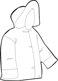 500x697 Coat clipart coloring page