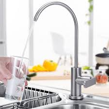 Ge Profile Reverse Osmosis Brushed Nickel Faucet by Homeideas Single Handle Drinking Water Faucet Cold Water Filter