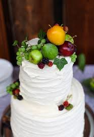 A Simple Rustic Wedding Cake With Fresh Fruit
