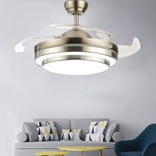 42 inch deckenventilator ventilator fan 4 einziehbare flügel mit led licht und fernbedienung für wohnzimmer schlafzimmer restaurant