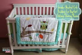 Baby s Crib Bedding Reveal Choosing Gender Neutral Crib Bedding