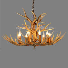 Best Rustic Style 9 Antler Chandelier Nine Candelabra Cast Cascade Ceiling Lights Natural Color Lighting