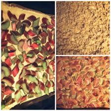 rhabarber streusel schmandkuchen