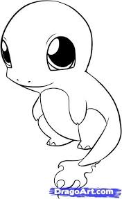Line Drawings Online Pokemon Coloring Pages Charmander In Maeluke