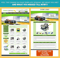Bespoke EBay Template DesignDark Green Automobile Theme