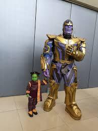 Thanos And Little Gamora Cosplay By Kino Kaoru And His Daughter At