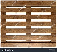 Wooden Pallet Isolated On White Background 3d