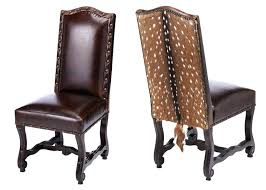 Contemporary Western Dining Chair Exotic Hide Side Chairs Axis Deer Graces The Outside Room For Sale