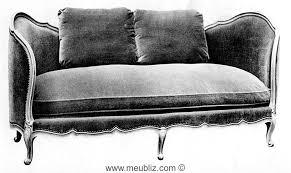 ottomane louis xv à cornes meuble de style