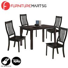 [FurnitureMartSG] Woody Dining Set 1+4_FREE DELIVERY + FREE INSTALLATION 100 Kitchen Table Sets With Rolling Chairs 41 Drop Leaf Tables For Small Spaces Big Style Islamorada Indoor Rattan 5 Piece Swivel Tilt Caster Ding Set Modern Restaurant And Cheap Patio Fniture Alinum Balconies Buy Tablesalinum Room Casters Layjao Design Amaza Retro And 70s Chromecraft Dinette Ding Room Coffee Ikea Rectangular Table Illustration Cartoon Chair Collar Guest Sancal