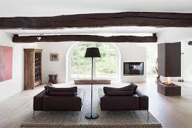freiliegende deckenbalken im wohnzimmer bild 12 schöner