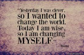 Inspirational Quote Change Rumi