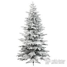 Kaemingk Everlands Snowy Alaskan Flocked Christmas Tree 7ft 210cm