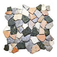 glazed flat mosaic tiles stratastones