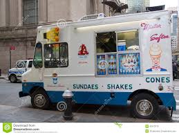 Ice Cream Truck In Midtown Manhattan Editorial Stock Photo - Image ...