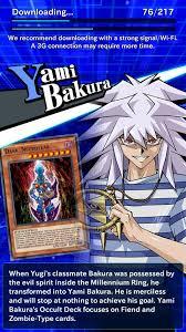 yugioh bakura character deck yu gi oh duel links descarga apk