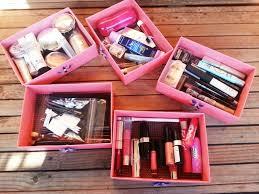 boîte rangement maquillage idées à réaliser soi même la maison diy