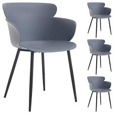 idimex esszimmer stuhl doris chrom grau set mit 4 stühlen
