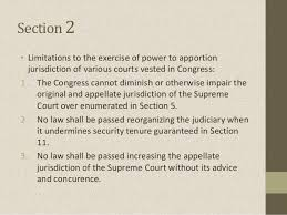 Article viii judicial department Sections 1 to 8