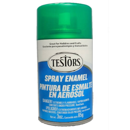 Testors - 1601T Spray Custom Green 3 oz. Enamel Paint